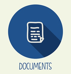 documents icon vector image