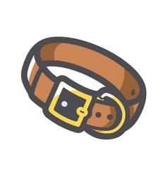 Dog collar leather icon cartoon vector
