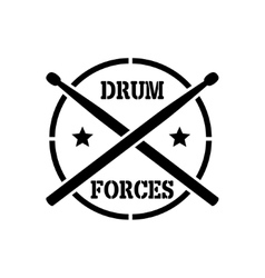 Drum sticks with word drummer vector