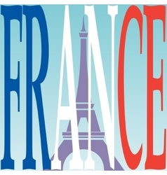 Eiffel tower and French flag vector image