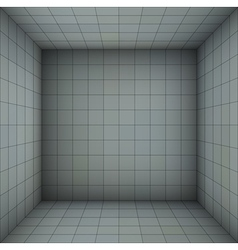 Empty futuristic room with blue gray walls vector