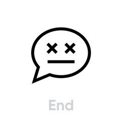 end message chat icon editable stroke vector image