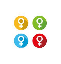 Female symbol icon vector