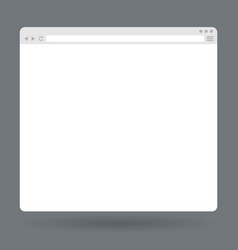 Flat blank browser window vector