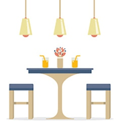 Flat Design Interior Dining Room vector image