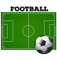 Football soccer field with ball vector