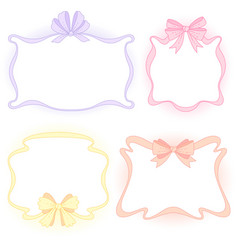 frames with bows vector image