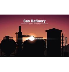 Gas refinery design vector
