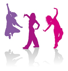 Girls dancing jazz-funk dance vector image