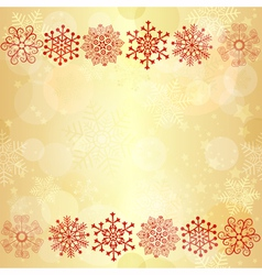 Gold glowing seamless christmas pattern vector