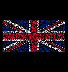 great britain flag pattern of confetti star icons vector image