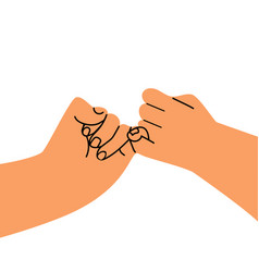 hand holding promise flat design vector image