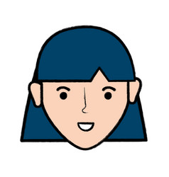 Happy young woman with hairstyle vector