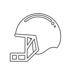 helmet mask american football equipment outline vector image