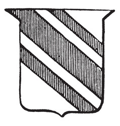 heraldry bendlet have line pattern in three part vector image