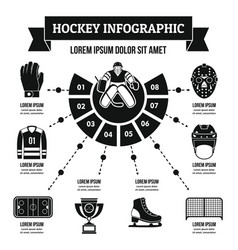 hockey infographic concept simple style vector image