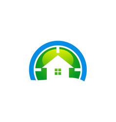 house target realty company logo vector image