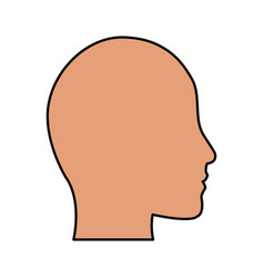 Human head profile icon image vector