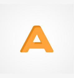 letter a bold geometric font element modern vector image