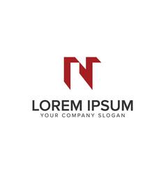 letter n logo concept design concept template vector image