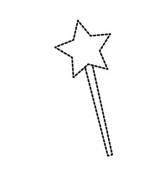 Magical fairy wand imagination fantasy vector