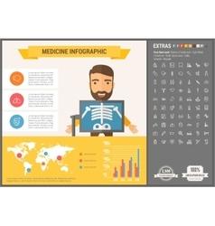 Medicine flat design Infographic Template vector image