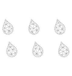 mesh rain drops icon vector image
