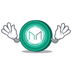Mocking maker coin mascot cartoon vector