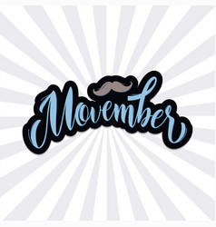 movember pharses promotion and motivation quotes vector image