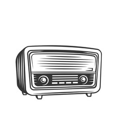 old radio monochrome icon vector image