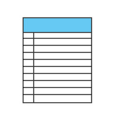 paper notebook isolated icon vector image