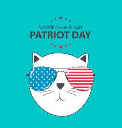 patriot day background september 11 poster we vector image