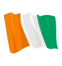 political waving flag of ivory coast vector image