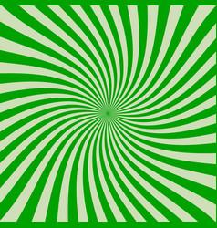 retro rays green background vector image
