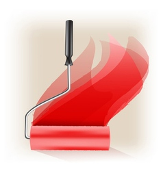 roller brush vector image