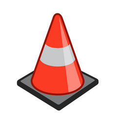 Safety cone pylon icon simple cartoon vector