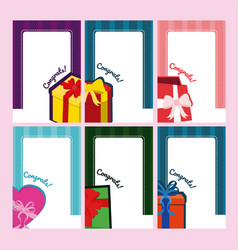 set of blank notes with gift cards vector image