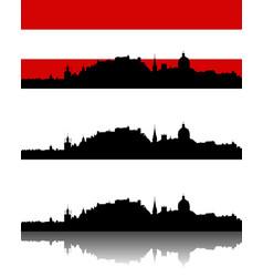 Silhouette of salzburg vector