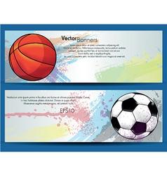 Sport ball banner vector image