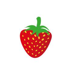 strawberry fruit icon stock vector image