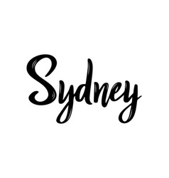 sydney handwritten calligraphy name of the city vector image