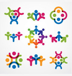 Teamwork businessman unity and cooperation vector