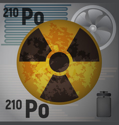 The radioactive isotope polonium 210 vector