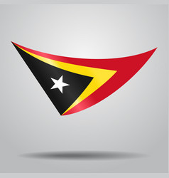 Timor-leste flag background vector