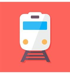 train flat stylized vector image