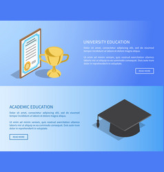 university and academic education internet page vector image
