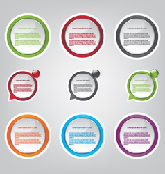 Web bubble icons vector image
