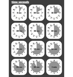 Black clocks icon vector image
