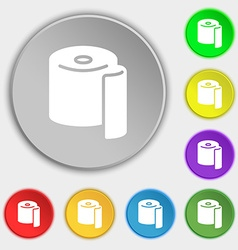 toilet paper icon sign Symbol on eight flat vector image