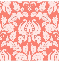 vintage damask seamless salmon pattern vector image vector image